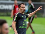 Andres Guardado in action for Mexico on October 4, 2017