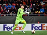 Andriy Lunin in action for Zorya Luhansk in the Europa League on November 23, 2017