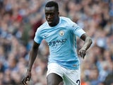 Benjamin Mendy in action for Manchester City on April 22, 2018