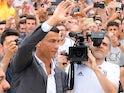 Cristiano Ronaldo arrives for his Juventus medical on July 16, 2018