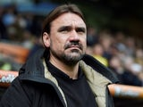 Daniel Farke in charge of Norwich City on April 14, 2018