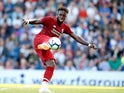 Divock Origi in action during the pre-season friendly between Blackburn Rovers and Liverpool on July 19, 2018