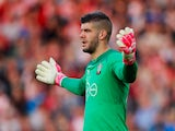 Fraser Forster in action for Southampton on October 15, 2017