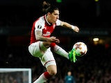 Hector Bellerin in action for Arsenal in the Europa League on April 26, 2018