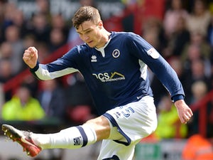 Jake Cooper in action for Millwall on April 14, 2018