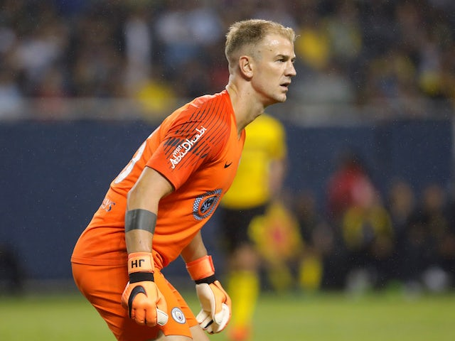 Joe Hart in action during the pre-season friendly between Manchester City and Borussia Dortmund on July 20, 2018
