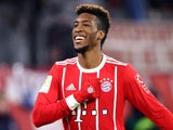 Kingsley Coman in action for Bayern Munich on December 2, 2017
