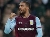 Lewis Grabban in action for Aston Villa on April 13, 2018