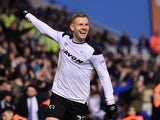 Matej Vydra in action for Derby County on January 18, 2018