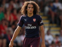 Matteo Guendouzi in action for Arsenal during a pre-season friendly on July 14, 2018