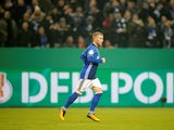 Max Meyer in action for Schalke 04 during a DFB-Pokal match in December 2017