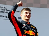 Max Verstappen pictured after the Austrian GP on July 1, 2018