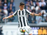 Paulo Dybala in action for Juventus on April 15, 2018