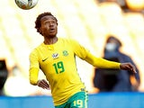 Percy Tau in action for South Africa on October 7, 2017