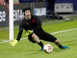 Petr Cech in action for Arsenal in the Europa League on April 12, 2018