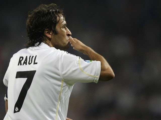Raul in action for Real Madrid in 2009