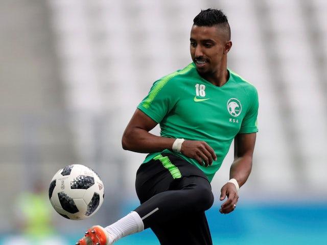 Salem Al-Dawsari during a Saudi Arabia training session on June 24, 2018