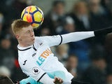Sam Clucas in action for Swansea City on March 3, 2018