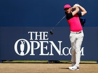 Tommy Fleetwood in action at The Open on July 22, 2018