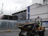 The old White Hart Lane being demolished in May 2017