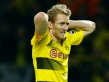 Borussia Dortmund's Andre Schurrle reacts on March 11, 2018