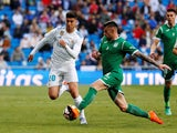 Leganes defender Diego Rico in action against Real Madrid