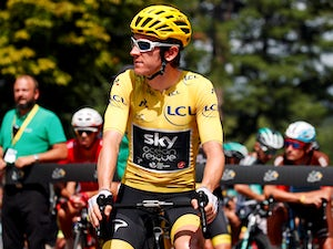 Geraint Thomas in action for Team Sky on the Tour de France on July 27, 2018