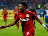 Leon Bailey in action for Bayer Leverkusen on January 20, 2018