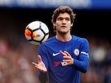 Marcos Alonso in action for Chelsea in the FA Cup on January 28, 2018