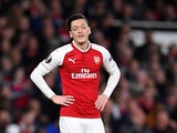 Mesut Ozil in action for Arsenal in the Europa League on April 26, 2018