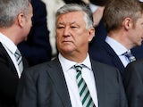 Celtic chief executive Peter Lawwell in the stands on April 29, 2018