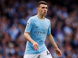 Phil Foden in action for Manchester City on April 22, 2018