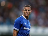 Everton midfielder Richarlison in action for his new side during a pre-season friendly with Blackburn on July 26, 2018