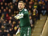 Rob Green in action for Leeds United in November 2016