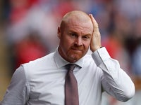 Burnley manager Sean Dyche reacts during his side's Europa League qualifying clash with Aberdeen on July 26, 2018