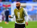Thierry Henry during Belgium's warm-up session at the World Cup on July 10, 2018