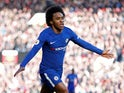 Willian in action for Chelsea on February 25, 2018