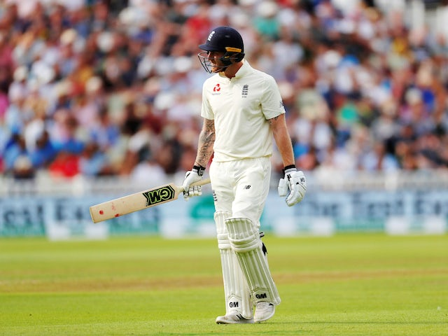 A dejected Ben Stokes exits the field during the first day of the second Test between England and India on August 1, 2018