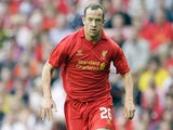 Charlie Adam in action for Liverpool in August 2012