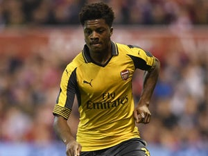 Chuba Akpom in action for Arsenal in September 2016