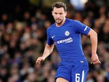 Danny Drinkwater in action for Chelsea in the FA Cup on January 17, 2018