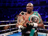 Dillian Whyte celebrates defeating Joseph Parker on July 28, 2018
