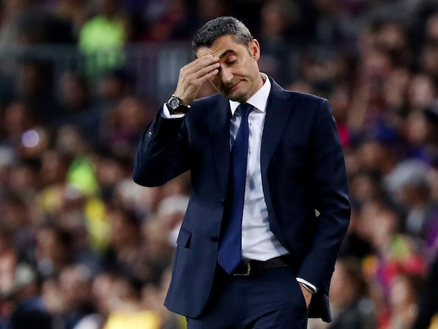 Ernesto Valverde in charge of Barcelona on May 6, 2018