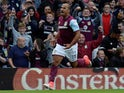 Gabby Agbonlahor celebrates scoring for Aston Villa on August 5, 2017