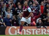Gabby Agbonlahor celebrates scoring for Aston Villa on August 5, 2017