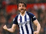 Jay Rodriguez in action for West Bromwich Albion on April 15, 2018