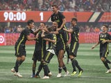 Juventus players celebrate defeating the MLS All-Stars on penalties on August 1, 2018