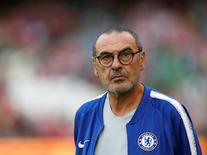 Maurizio Sarri watches on during the pre-season friendly between Chelsea and Arsenal on August 1, 2018
