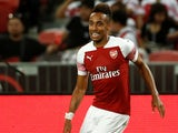 Pierre-Emerick Aubameyang in action for Arsenal in pre-season on July 27, 2018