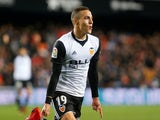 Rodrigo Moreno in action for Valencia in the Copa del Rey on January 17, 2018